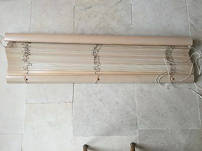 Two Wooden Venetian Blinds  Brown 174cm wide x 137cm