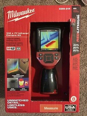 Milwaukee 2258-21h M12 12-Volt Lithium-Ion Cordless 102 x 77 Infrared Camera Kit