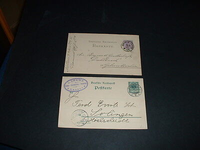 Germany 2  Letter/cards  Dates 1899 And 1885 (M17