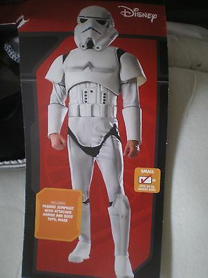 Mens Star Wars STORMTROOPER Complete Costume Size S or L NEW Mask, Padded Suit