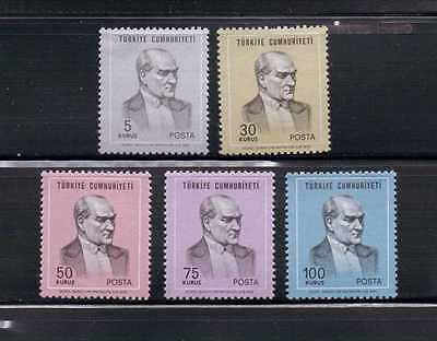 1970 Stamps of Turkey Ataturk complete set Mint Hinged
