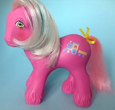 My Little Pony G1/ Big Brother Ponies/ Steamer/ Dampfi /1987 / pink tail
