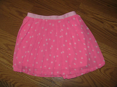 NWT Cherokee Toddler Girls XS 4/5 Skirt Pink Polka Dot NEW