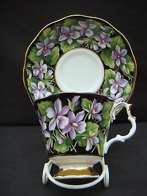 Vintage Royal Albert Provincial Flowers Cup & Saucer Purple Violet