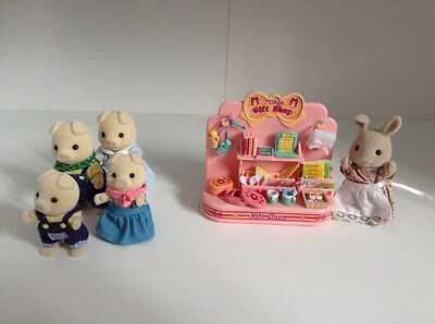 Sylvanian Gift Shop and Pig Family