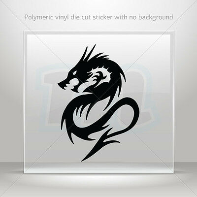 Sticker Decal Dragon Figure Atv Bike polymeric vinyl Garage st5 W935W