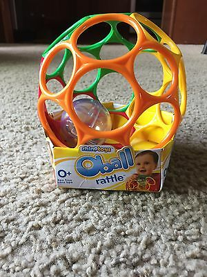 Oball Rattle Ball 6'' Multi Sensory Easy Grasp/Hold Occupational Therapy Autism