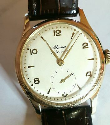 Montre Alpina or 14k (1950-59) / Watch solid gold 14k (1950-59)