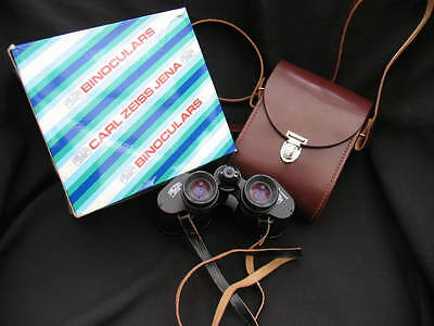 BOXED CARL ZEISS 8x30 BINOCULARS + LEATHER CARRY CASE