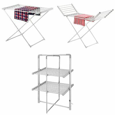 Portable Heated Clothes Airer Folding Indoor Laundry Washing Dryer Horse Airers