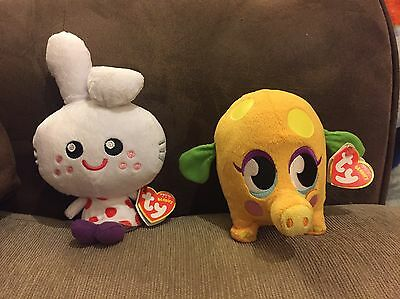2 Moshi Monsters ty Beanie Babies, Mr Snoodle And Honey, Colourful Soft Toys