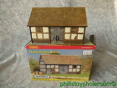 Oo Hornby Skaledale R8524 Holly Farm Barn Vgc Boxed Retired Discontinued