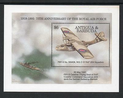 Antigua & Barbuda MNH 1993 The 75th Anniversary of the Royal Air Force M/S