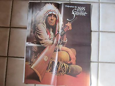 1970 Savage Arms Rifle Poster 1895 Savage MINT LOTS More Listed