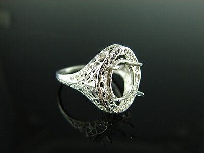 5807 Ring Setting Sterling Silver Size 6, 10X8 Mm Oval Stone