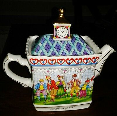 "James Sadler Championships Collectors Series Teapot ""A Round of Golf"" made in UK"