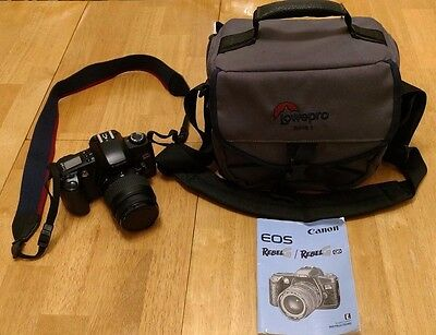 Canon EOS RebelG Film Camera Body With 35-80mm Zoom Lens,Strap,Manual&Case