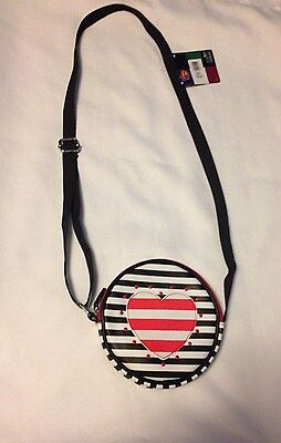 Disney Shake it Up style Girl Sling Bag Stripes Heart NEW NWT