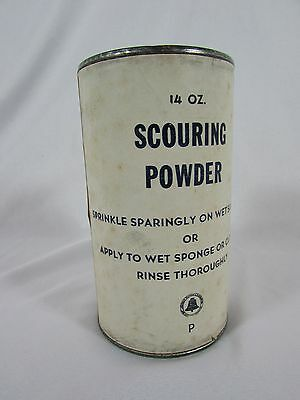 Vintage American Telephone & Telegraph Bell System FULL 14oz Scouring Powder Tin