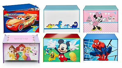 Choose From Character And Disney Toy Box Bedroom Storage, Minnie, Frozen, Cars