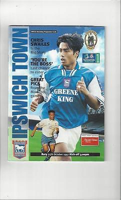 Ipswich Town v Bury Football Programme 1997/98
