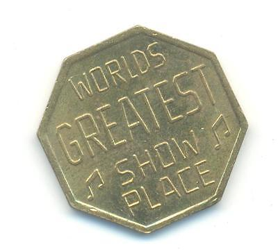 Very Rare.token Worlds Greatest Show Place.nyc Unc..very Collectable.