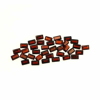 5 PIECES OF 5x3mm OCTAGON-FACET DEEP RED/ORANGE NATURAL MOZAMBIQUE GARNET £1 NR!