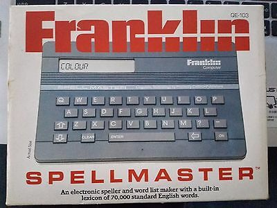 Vintage 80's Franklin Spellmaster QE-103  Electronic Dictionary Word Games Boxed