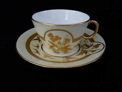 Early English Royal Worcester Hand-painted Tea cup and saucer #1
