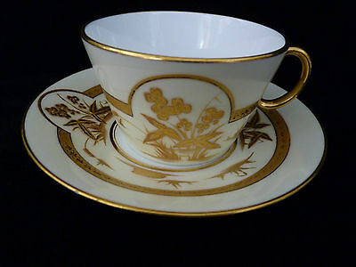 Early English Royal Worcester Hand-painted Tea cup and saucer #2