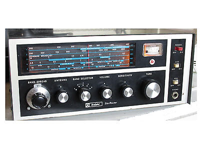 Vintage Knight Star Roamer Shortwave Radio 5 Band Works! w/ Manual Rare!