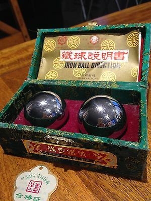 Chinese Iron Balls Direction In Box Unused