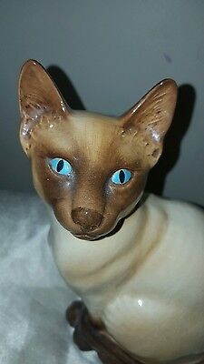 "Vintage sylvac siamese cat 5111 made in England 9"" tall"