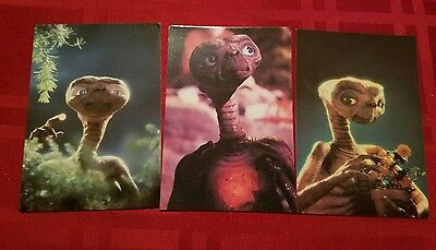 "1982 Collectors Vintage Movie  ""ET The Extra-Terrestrial"" Postcards - Lot of 3"