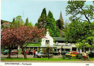 Strathpeffer - The Square - Scotland - Postcard 1986