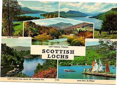 Scottish Lochs - Scotland - Multiview - Postcard 1997