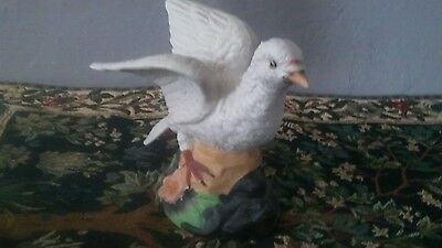 Ceramic vintage white dove figurine,1970's
