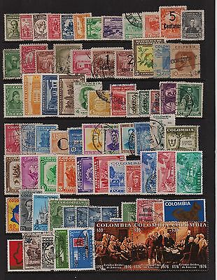 Colombia - 77 stamps, mostly older