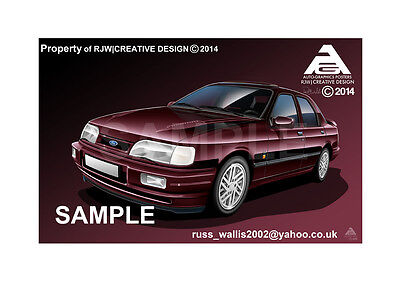 Ford Sierra Cosworth Poster Illustration