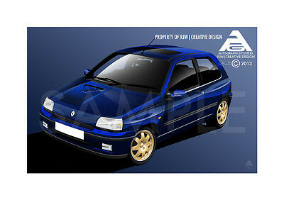Renault Clio Williams Poster Illustration