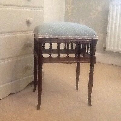 Victorian Piano Stool newly upholstered