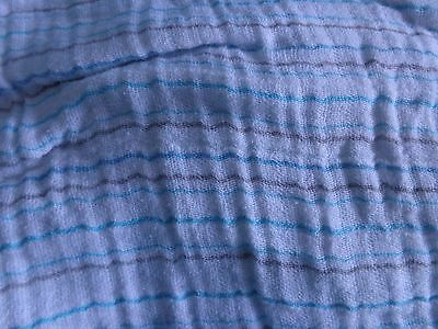 ADEN + anais GREEN Brown SQUIGGLY lines/STRIPE swaddle SWADDLING baby BLANKET