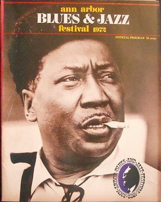 ANN ARBOR 1972 JAZZ BLUES FESTIVAL concert program GARY GRIMSHAW MUDDY WATERS