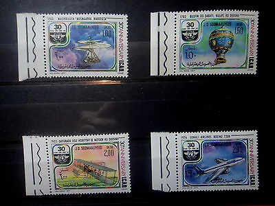 SOMALIA 1977 SPACE PLANES BALLON ICAO Stamps SET - MNH -VF - r3b905