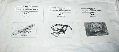 3 Issues of Bulletin of the Chicago Herpetological Society Vol.45-2010 REPTILES