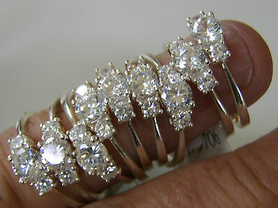 25 x ANTIQUE STYLE 925 SILVER RING SPARKLING STONES diamond interest VERY NICE