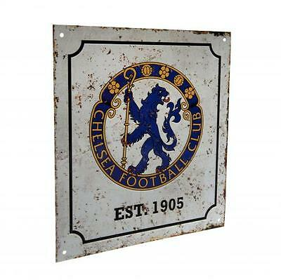 Chelsea Retro Logo Sign Metal Retro Crest New Official Licensed Football Product