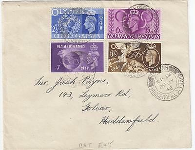 GB 1949 OLYMPIC GAMES 1st DAY COVER CAT VALUE 45 GBPs