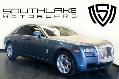 2010 Rolls-Royce Ghost  10 RR Ghost-Lunar Blue/Blk Creme Light-Driver Assist 3-Pano-Rear Theater Config!