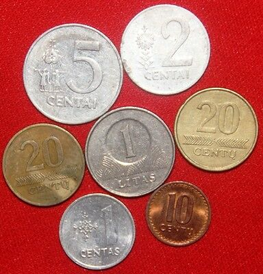 LITHUANIA - 7 x Coin Mix